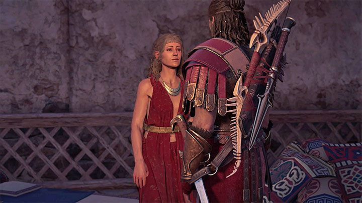 During the last conversation with Aikaterine, select the dialog option marked with the heart icon - it is shown in the attached picture - Aikaterine - Romances in Assassins Creed Odyssey - Romances - Assassins Creed Odyssey Guide
