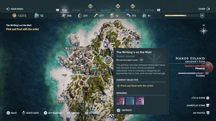 Ac Odyssey Naxos Side Quests Walkthrough Assassin S Creed