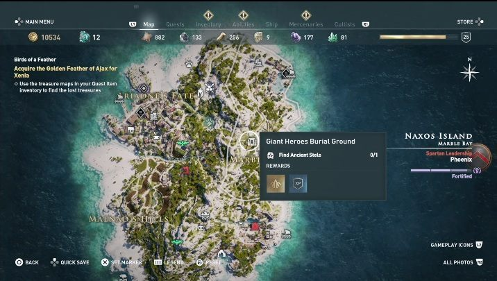 Tomb location: Northern part of Naxos - Naxos - Tombs in Assassins Creed Odyssey Game - Tombs - Assassins Creed Odyssey Guide