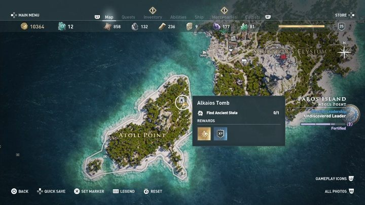 Tomb location: Northern part of Paros - Paros - Tombs in Assassins Creed Odyssey Game - Tombs - Assassins Creed Odyssey Guide