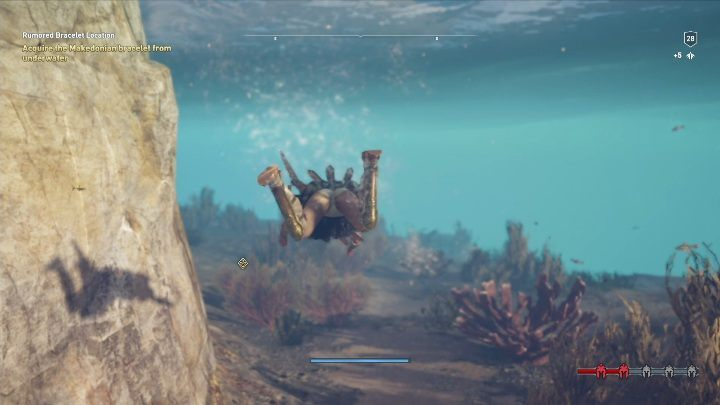 Look around the area and examine the items that are marked with a magnifying glass icon - Treasure hunting for Xenia in Assassins Creed Odyssey - Side Quests - Assassins Creed Odyssey Guide