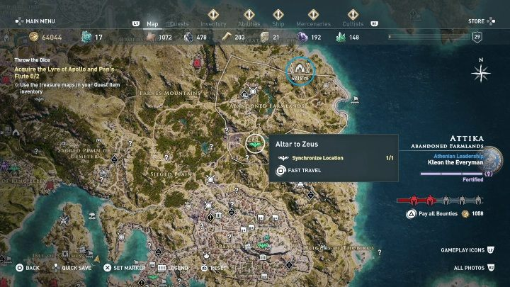 5 - Treasure hunting for Xenia in Assassins Creed Odyssey - Side Quests - Assassins Creed Odyssey Guide