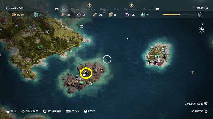 1 - Side Quests in Obsidian Islands in Assassins Creed Odyssey - Side Quests - Assassins Creed Odyssey Guide