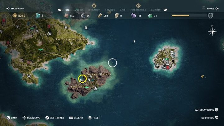 2 - Side Quests in Obsidian Islands in Assassins Creed Odyssey - Side Quests - Assassins Creed Odyssey Guide