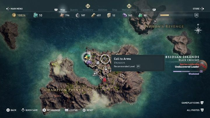 This quest starts: After you talk to Driakos - Side Quests in Obsidian Islands in Assassins Creed Odyssey - Side Quests - Assassins Creed Odyssey Guide