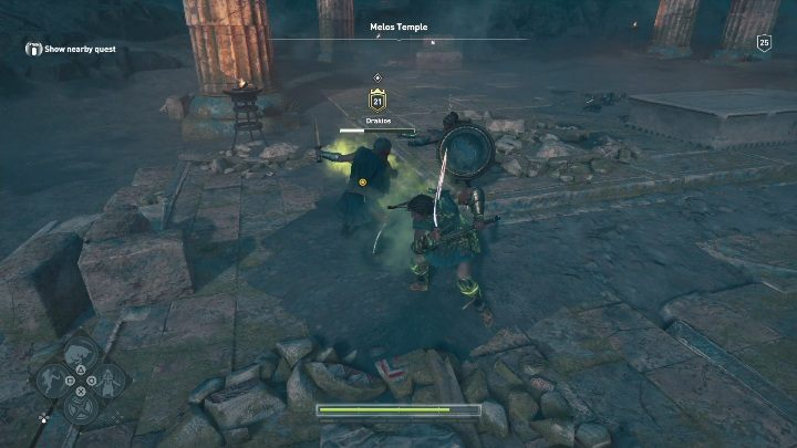 After the battle is finished, talk to Driakos and Roxana - Side Quests in Obsidian Islands in Assassins Creed Odyssey - Side Quests - Assassins Creed Odyssey Guide