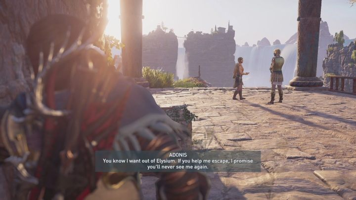 During the third mission (A Lover and A Fighter) in Assassins Creed: Odyssey Fate of Atlantis youll encounter Adonis - Fields of Elysium | Romances in AC Odyssey Fate of Atlantis - Romances - Assassins Creed Odyssey Guide
