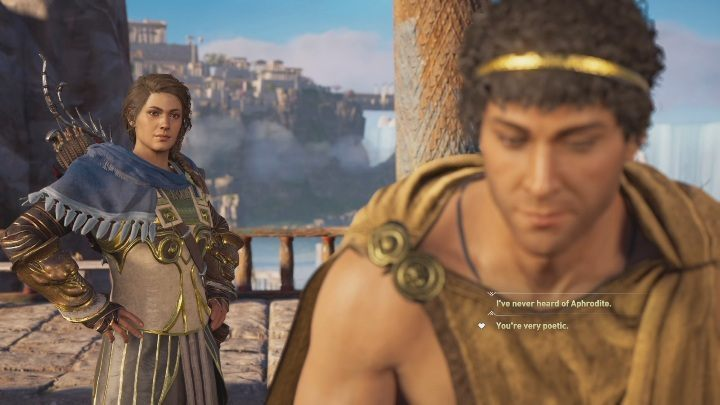 During the next conversation, youll receive the option to romance - Fields of Elysium | Romances in AC Odyssey Fate of Atlantis - Romances - Assassins Creed Odyssey Guide