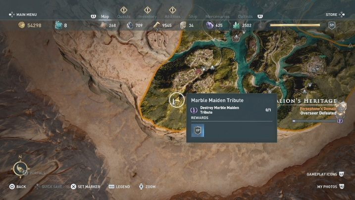 3 - Deukalions Heritage | Marble Maiden Tribute - Marble Maiden Tribute - Assassins Creed Odyssey Guide