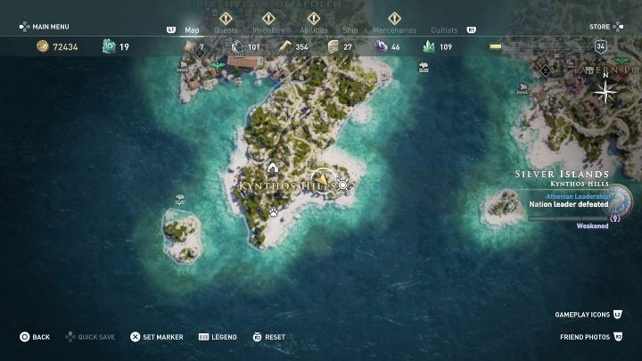 2 - Ainigmata Ostraka on Silver Islands in Assassins Creed Odyssey - Ainigmata Ostraka - Assassins Creed Odyssey Guide