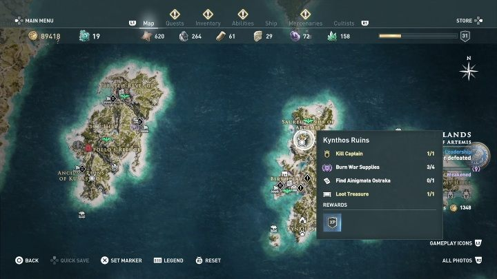 3 - Ainigmata Ostraka on Silver Islands in Assassins Creed Odyssey - Ainigmata Ostraka - Assassins Creed Odyssey Guide