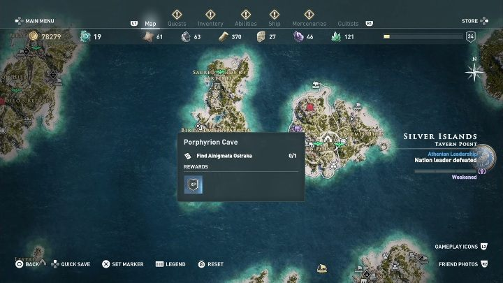 5 - Ainigmata Ostraka on Silver Islands in Assassins Creed Odyssey - Ainigmata Ostraka - Assassins Creed Odyssey Guide
