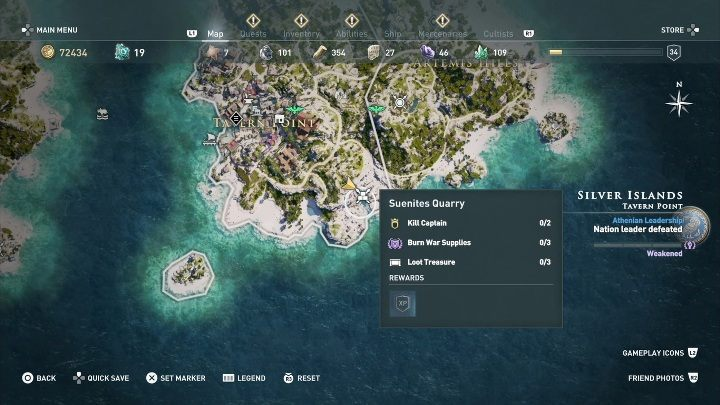 6 - Ainigmata Ostraka on Silver Islands in Assassins Creed Odyssey - Ainigmata Ostraka - Assassins Creed Odyssey Guide