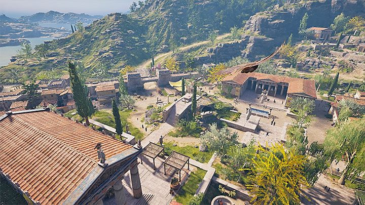 Megaris region features 1 tomb - Megaris Map - tombs, ostracons, documents, secrets - World Atlas - Assassins Creed Odyssey Guide