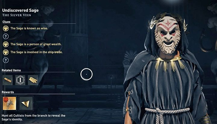 The identity of most cultists is a mystery at the beginning - Who are Kosmos Cultists in Assassins Creed Odyssey? - Kosmos Cultists - Assassins Creed Odyssey Guide