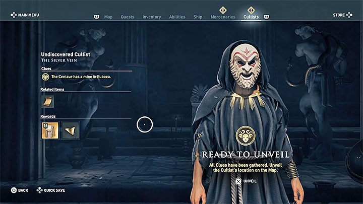 After collecting enough traces, you can open the given cultists bio and learn the identity and location of a Cultist of the Kosmos - Who are Kosmos Cultists in Assassins Creed Odyssey? - Kosmos Cultists - Assassins Creed Odyssey Guide