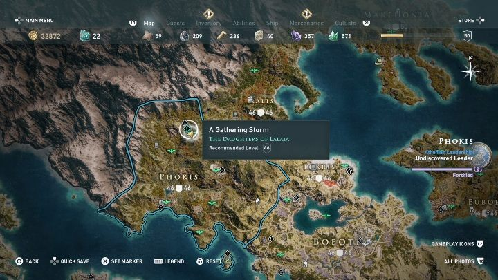 You will start this adventure in Phokis - Daughters of Lalaia - Side Quests in Assassins Creed Odyssey - Side Quests - Assassins Creed Odyssey Guide