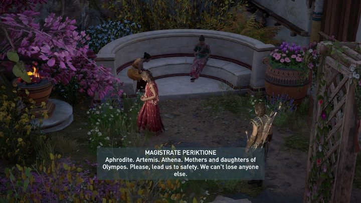 To start a mission, you need to talk to one of the women - Daughters of Lalaia - Side Quests in Assassins Creed Odyssey - Side Quests - Assassins Creed Odyssey Guide