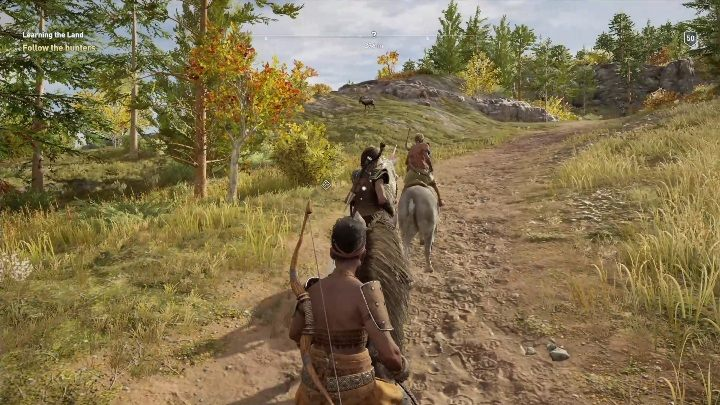 The mission objective is to hunt together with two representatives of the village - Daughters of Lalaia - Side Quests in Assassins Creed Odyssey - Side Quests - Assassins Creed Odyssey Guide