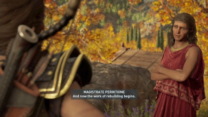 After getting rid of your opponents, talk to Thyia and return to the village with her - Daughters of Lalaia - Side Quests in Assassins Creed Odyssey - Side Quests - Assassins Creed Odyssey Guide