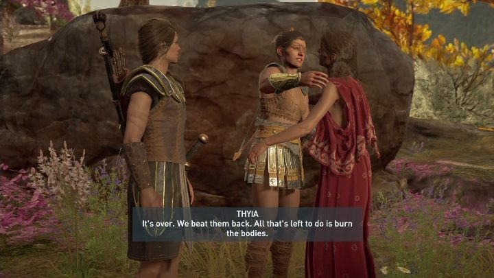 You can only ignite the affair at the end of your adventure, after completing the Blood for Aphrodite task - Thyia - Romances in Assassins Creed Odyssey - Romances - Assassins Creed Odyssey Guide