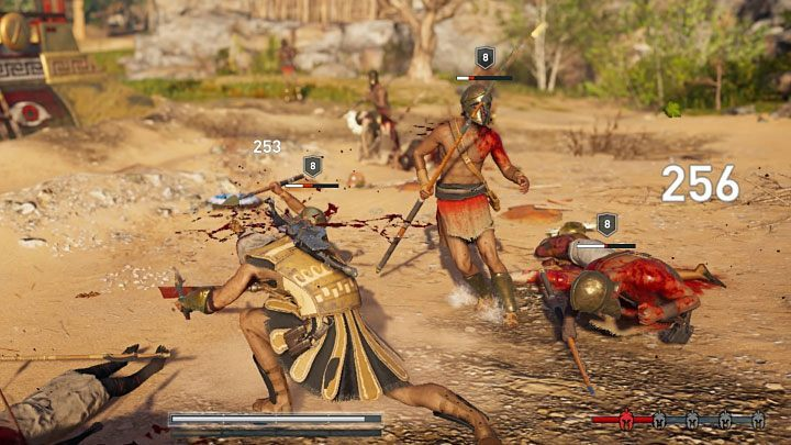 Certain active abilities (you can use them once the yellow adrenaline bar is filled) are very helpful in close combat - Combat guide to Assassins Creed Odyssey - Tips - Assassins Creed Odyssey Guide
