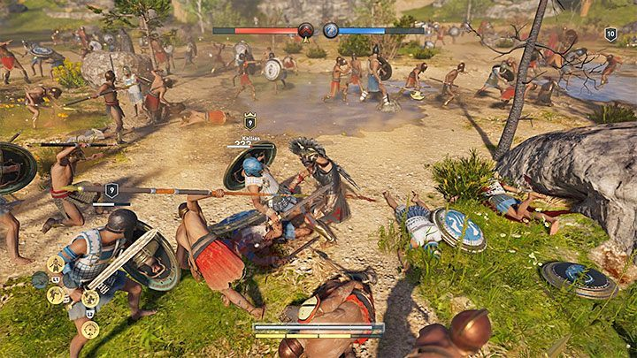 Allies can accompany you during certain battles, mainly during Conquest fights - Combat guide to Assassins Creed Odyssey - Tips - Assassins Creed Odyssey Guide