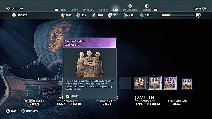 All changes done in the ship appearance slots are purely cosmetic - they dont affect Adrestias stats - Does ship cosmetics have impact on the ships stats in Assassins Creed Odyssey? - FAQ - Assassins Creed Odyssey Guide
