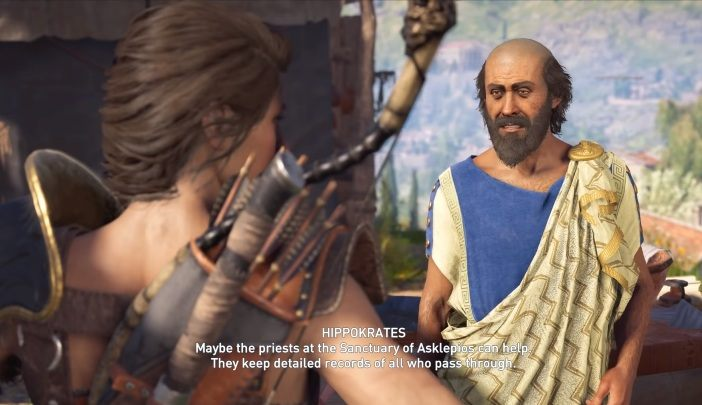In Assassins Creed Odyssey, after completing the main mission Paradise Lost, you will meet Hippokrates - Historical Figures in Assassins Creed Odyssey - Tips - Assassins Creed Odyssey Guide
