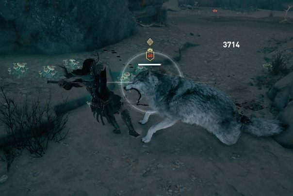 Go to the White Wolf Cave - Side Quests on Lesbos Island in Assassins Creed Odyssey - Side Quests - Assassins Creed Odyssey Guide