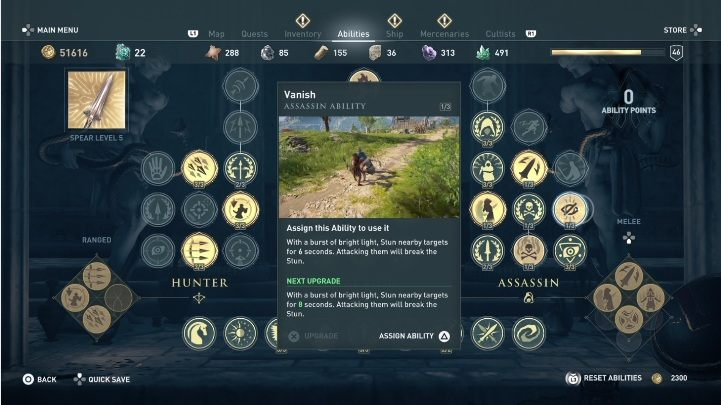 This skill stuns enemies for a few seconds - How to develop the assassins skills in Assassins Creed Odyssey? - FAQ - Assassins Creed Odyssey Guide