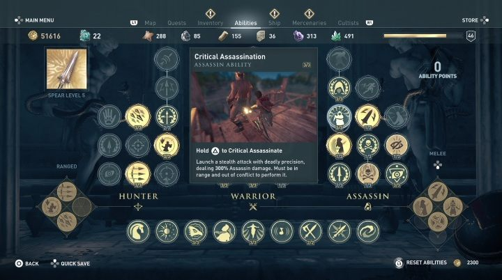 This skill ensures the execution of a critical assassination - How to develop the assassins skills in Assassins Creed Odyssey? - FAQ - Assassins Creed Odyssey Guide