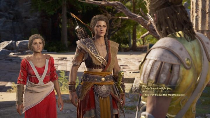 You meet Alexios/Kassandra on the top of the mountain - Important choices in Chapter 9 of Assassins Creed Odyssey - Important choices - Assassins Creed Odyssey Guide