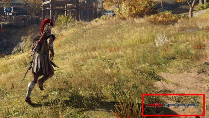 As you commit a crime, the red bar gradually fills up in the lower right corner of the screen - How to stop constantly attacking mercenaries in Assassins Creed Odyssey Game? - FAQ - Assassins Creed Odyssey Guide