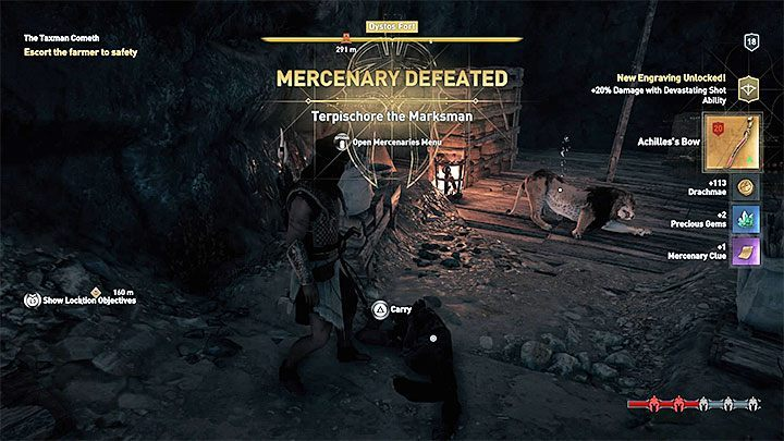 As soon as a bounty is accepted, the mercenary starts to track down the hero - How to stop constantly attacking mercenaries in Assassins Creed Odyssey Game? - FAQ - Assassins Creed Odyssey Guide