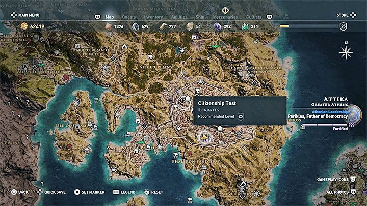 In quests, level scaling works by increasing their recommended level - How does the level scaling work in Assassins Creed Odyssey? - FAQ - Assassins Creed Odyssey Guide
