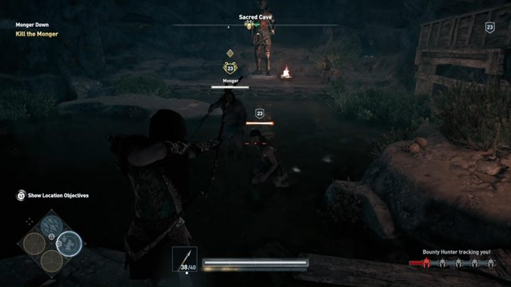 Fight with the Monger who is also a member of the Cult of Kosmos - Land of the Lawless - Assassins Creed Odyssey Walkthrough - Main Storyline - Assassins Creed Odyssey Guide