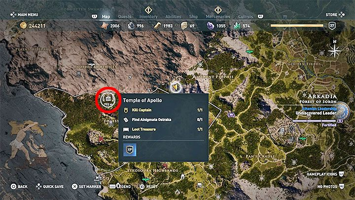 Ainigmata Ostraka in Arcadia in Assassin's Creed Odyssey