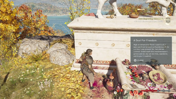 Puzzle solution: Head to the northern part of Eubea - Ainigmata Ostraka in Abantis Islands in Assassins Creed Odyssey - Ainigmata Ostraka - Assassins Creed Odyssey Guide