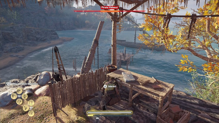 The location of this Ainigmata Ostraka: Head to the Pirate Hideout - Ainigmata Ostraka in Abantis Islands in Assassins Creed Odyssey - Ainigmata Ostraka - Assassins Creed Odyssey Guide