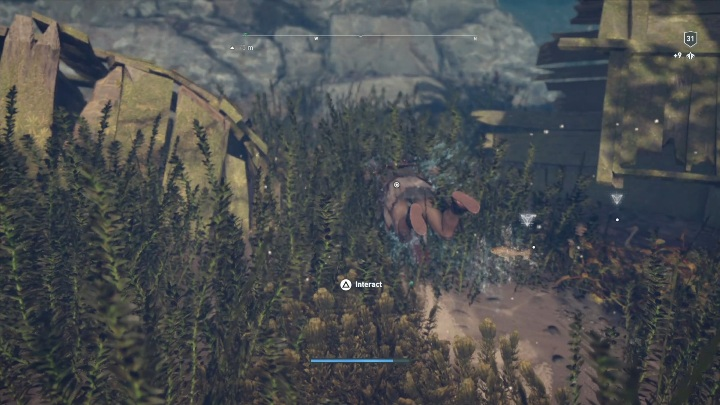 Puzzle solution: Go to the water body located in the southern part of the island - Ainigmata Ostraka in Abantis Islands in Assassins Creed Odyssey - Ainigmata Ostraka - Assassins Creed Odyssey Guide