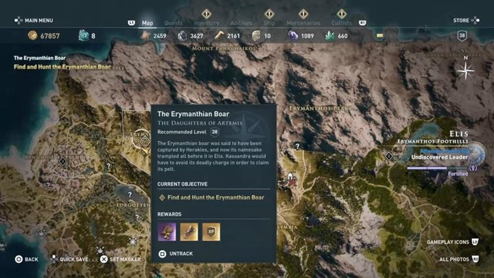 Location: Elis - The Erymanthian Boar (Elis) - Hunting for Seven Beasts Assassins Creed Odyssey - Hunting for Seven Beasts - Assassins Creed Odyssey Guide