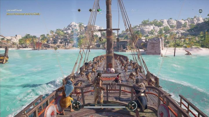 Another part of this quest involves taking the captain to the Island Get onboard your ship and command it until you reach your destination - Side Quests in Pirate Islands in Assassins Creed Odyssey - Side Quests - Assassins Creed Odyssey Guide