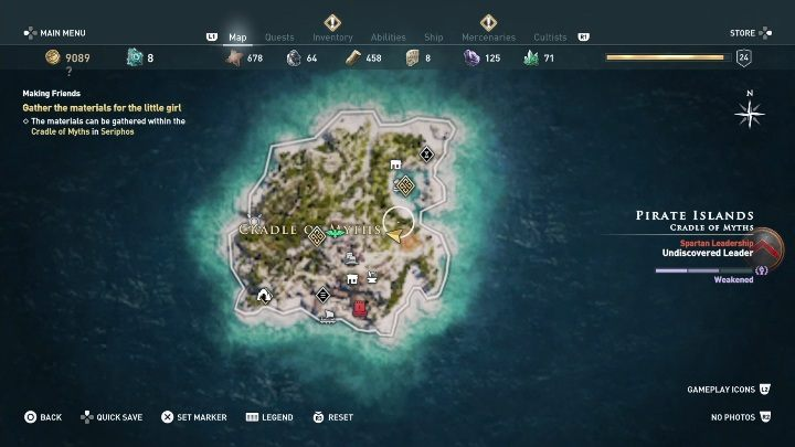 This quest starts: After you talk to the little girl - Side Quests in Pirate Islands in Assassins Creed Odyssey - Side Quests - Assassins Creed Odyssey Guide