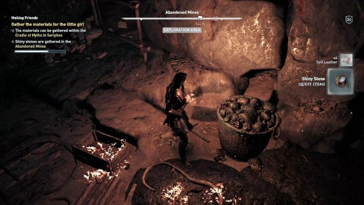 In both locations, you have to find glowing stones - Side Quests in Pirate Islands in Assassins Creed Odyssey - Side Quests - Assassins Creed Odyssey Guide