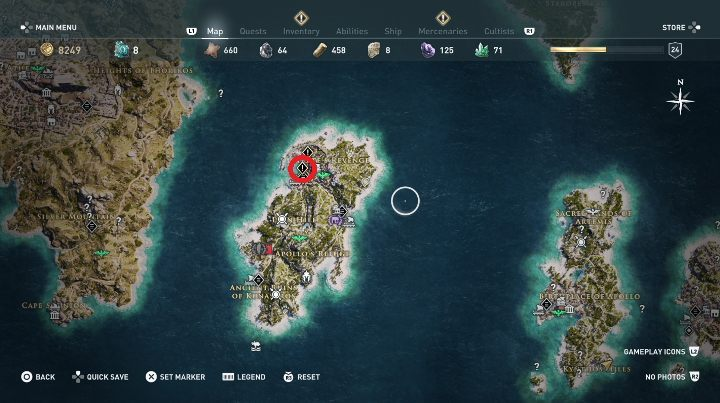 This quest starts: After you talk to the man at the port - Side Quests in Pirate Islands in Assassins Creed Odyssey - Side Quests - Assassins Creed Odyssey Guide
