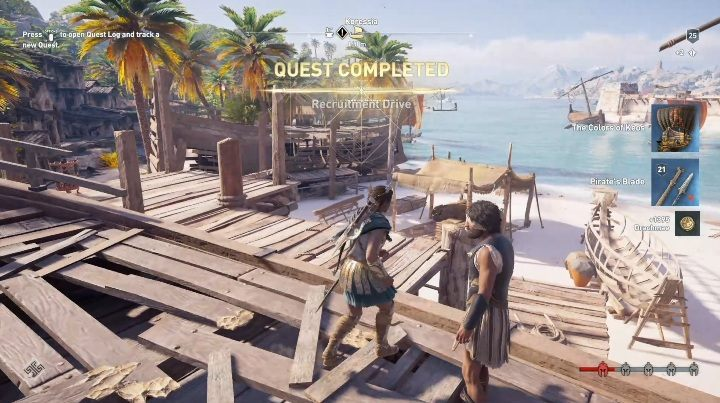 After you destroy the ships, return to the man and talk to him to finish the quest - Side Quests in Pirate Islands in Assassins Creed Odyssey - Side Quests - Assassins Creed Odyssey Guide