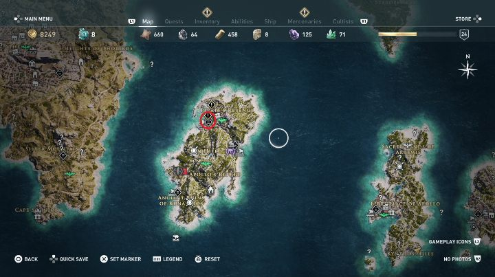 This quest starts: After you talk to the woman - Side Quests in Pirate Islands in Assassins Creed Odyssey - Side Quests - Assassins Creed Odyssey Guide