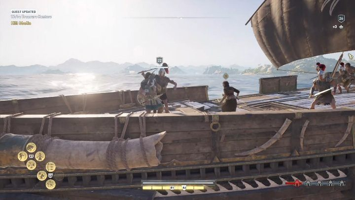 Upon extracting the treasure, take it to the woman - Side Quests in Pirate Islands in Assassins Creed Odyssey - Side Quests - Assassins Creed Odyssey Guide