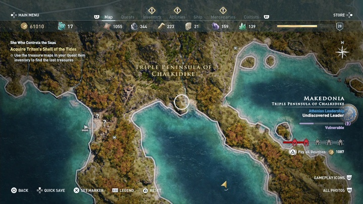 Description: The woman gives you three new maps - Side Quests in Pirate Islands in Assassins Creed Odyssey - Side Quests - Assassins Creed Odyssey Guide